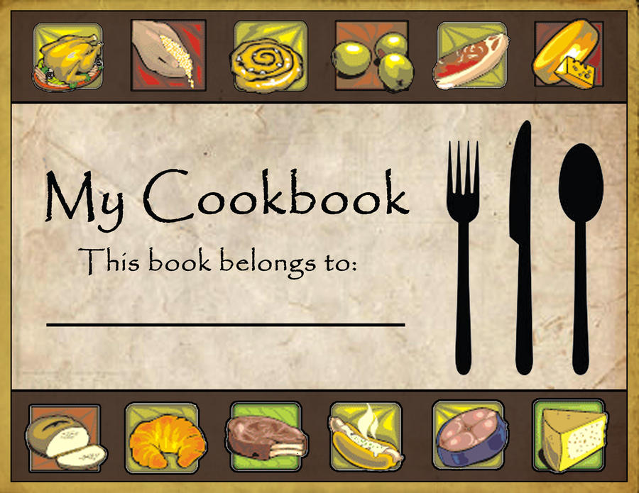 Clipart Book Cover Design ~ Cookbook cover by batzler on deviantart