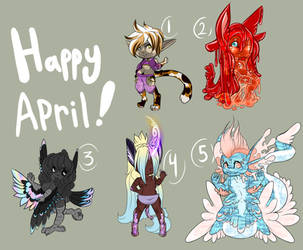Happy April - Mystery Adopts Revealed! by GiaZeries