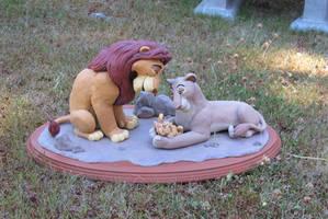 Mufasa and Sarabi with Newborn Simba by WickedSairah
