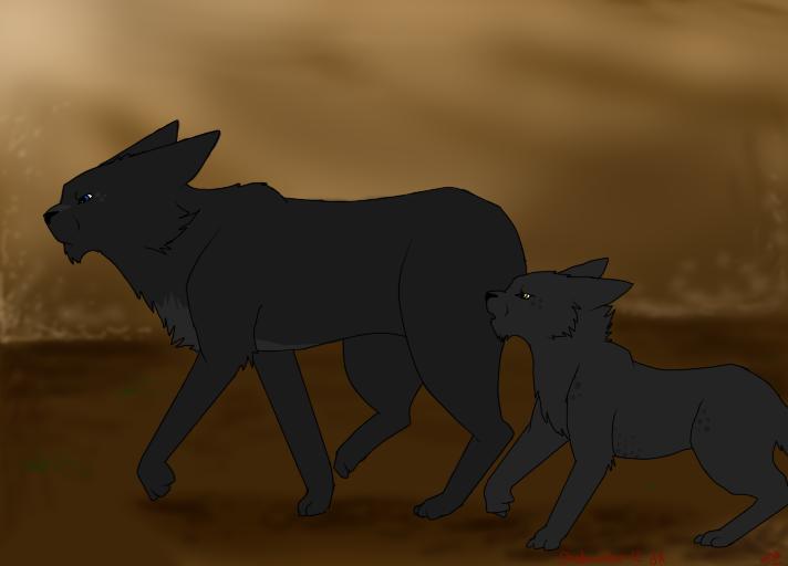 Warrior Cats Heathertail And Breezepelt