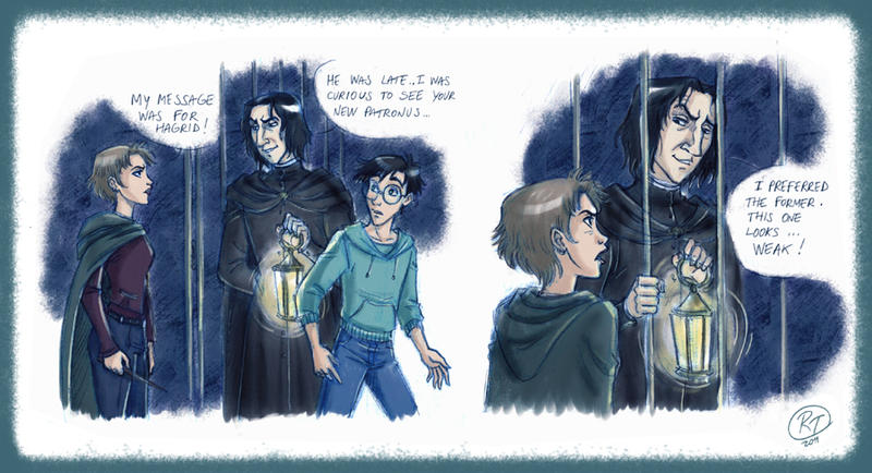 tonks facing snape by robyboh on deviantart