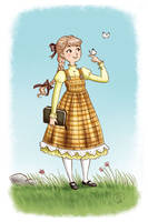 yellow dressed girl by roby-boh