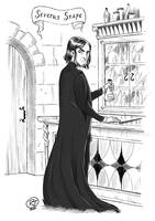 b/w Severus Snape