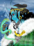 Jotun!Loki and Jormungandr