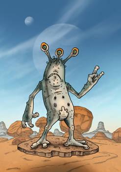 Alien visitor sculpt idea.