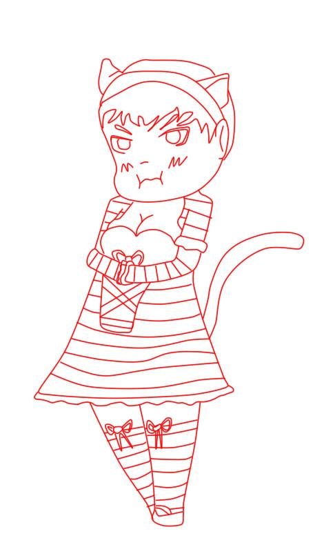 Grumpy Kitty by xXFlakyXx