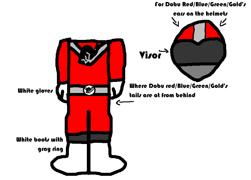 Doburanger Main 4 Suit Concept by Blazikenpwnsyou