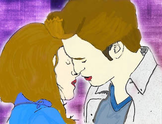 Edward and bella drawing by secretwriter07