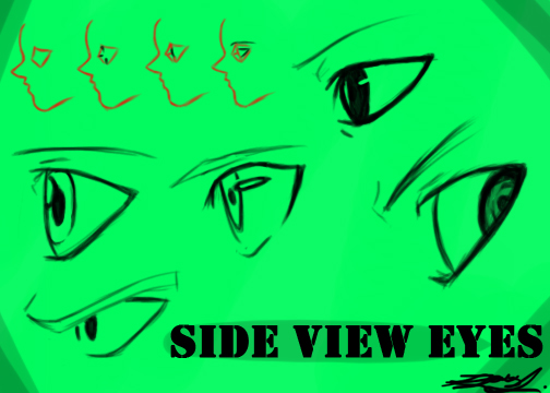 How to Draw Anime / Manga Eyes in Profile Side View : 4 ...