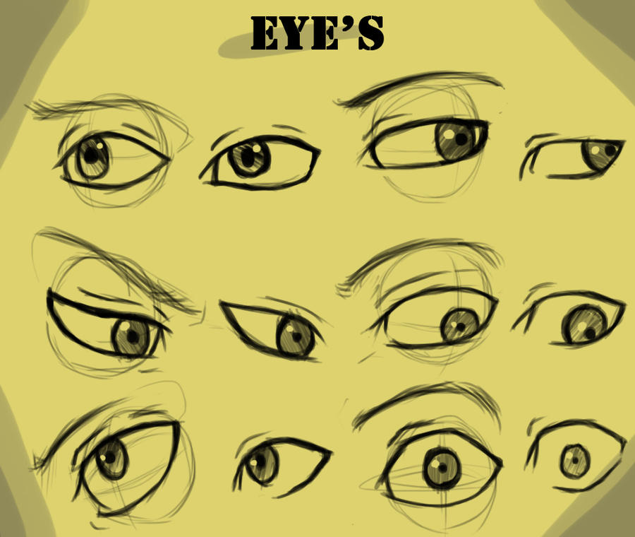 Eye's With And Without Guide by Kira09kj on DeviantArt