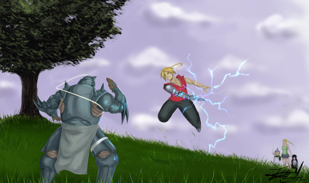 FMA - Spar Between Brother's by Kira09kj