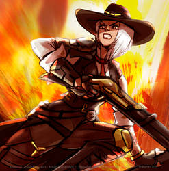Ashe Overwatch by juniorstyle