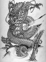 Chinese dragon tattoo design by shaneandhisdog