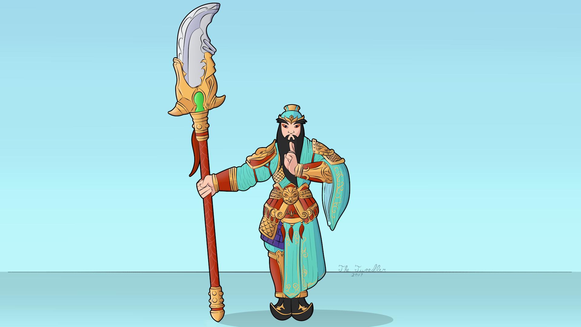 Smite: Guan Yu Fan Art (TheTweedler) by TheTweedler