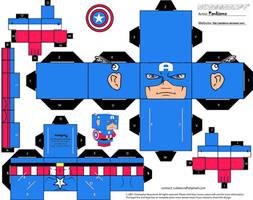 Captain America Cubee by Pankismo