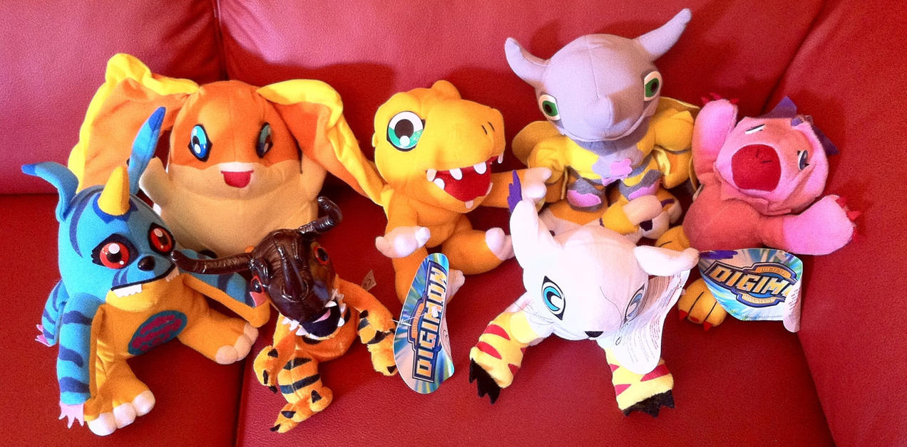 Digimon Plushies from the fair by TamerOfAstamon