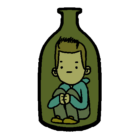 Ollie in a Bottle by StormSketch