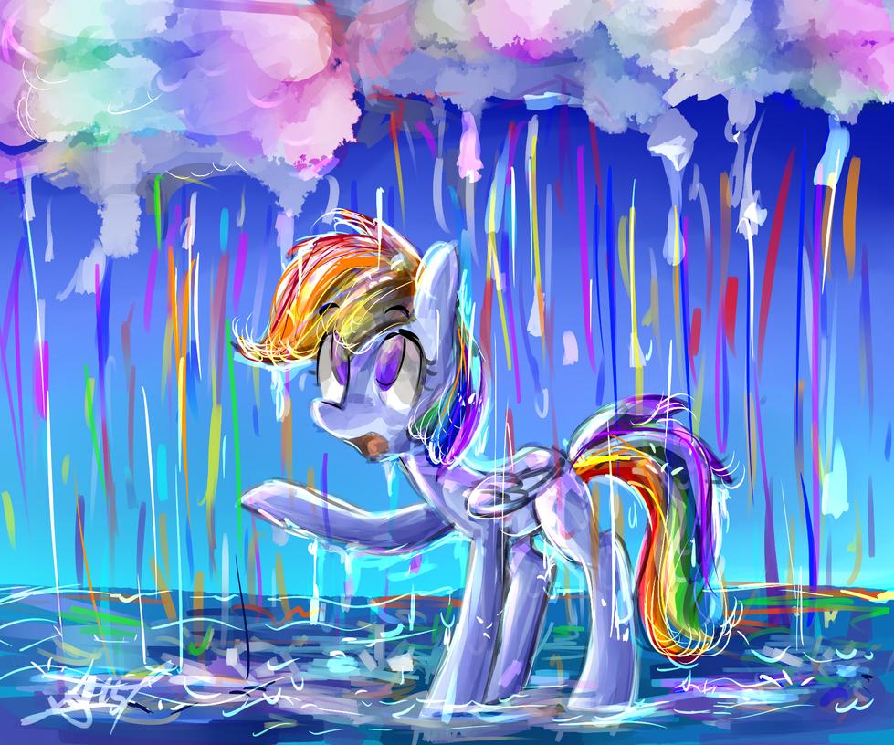 Rainbow Rain by Tamoqu