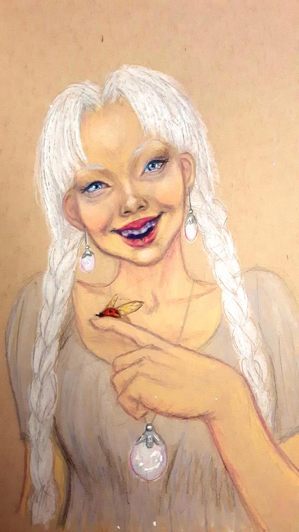 Girl and Ladybug by ExLibrisInterInta