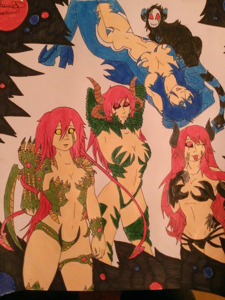 witchblade sisters by meerkamis