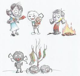 Drawcember 14, 15, 16: Toys, Coal, Stocking by ItsTheBlob