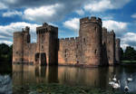 Bodiam Castle and swans