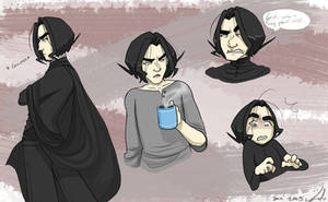 Snape sketchies page by gilll