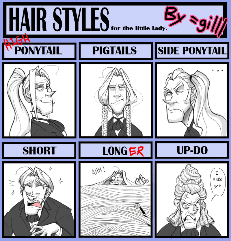Lucius Hair Styles Meme By Gilll On Deviantart