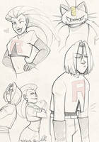 Team Rocket doodles by gilll
