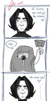 Snape and his ID photo