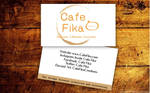 Cafe Fika Business Cards