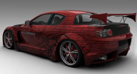 RX8: Carbon Drip Rear