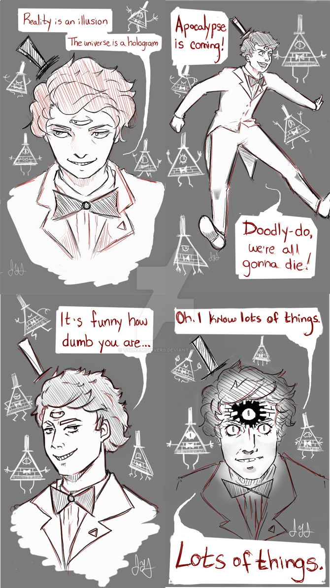 Bill Cipher Sketches by tsunamisilvers