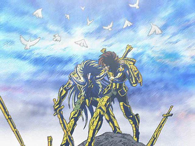 1ª Aventura - Ameaça Fantasma no Santuário - ( Final ) - Página 19 Dohko_and_Shion_by_mollymous