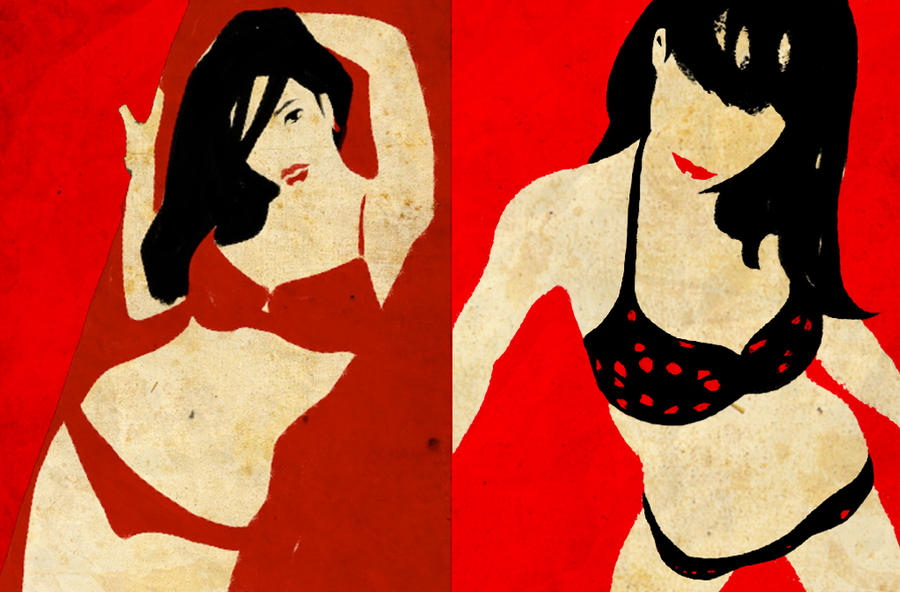 Red Bikini girls by JohnPetropoulos