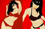Red Bikini girls