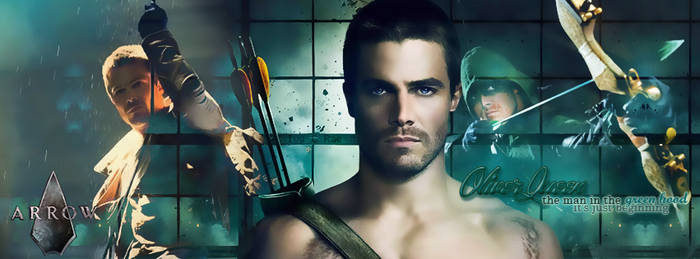 Oliver Queen: the man in the green hood...