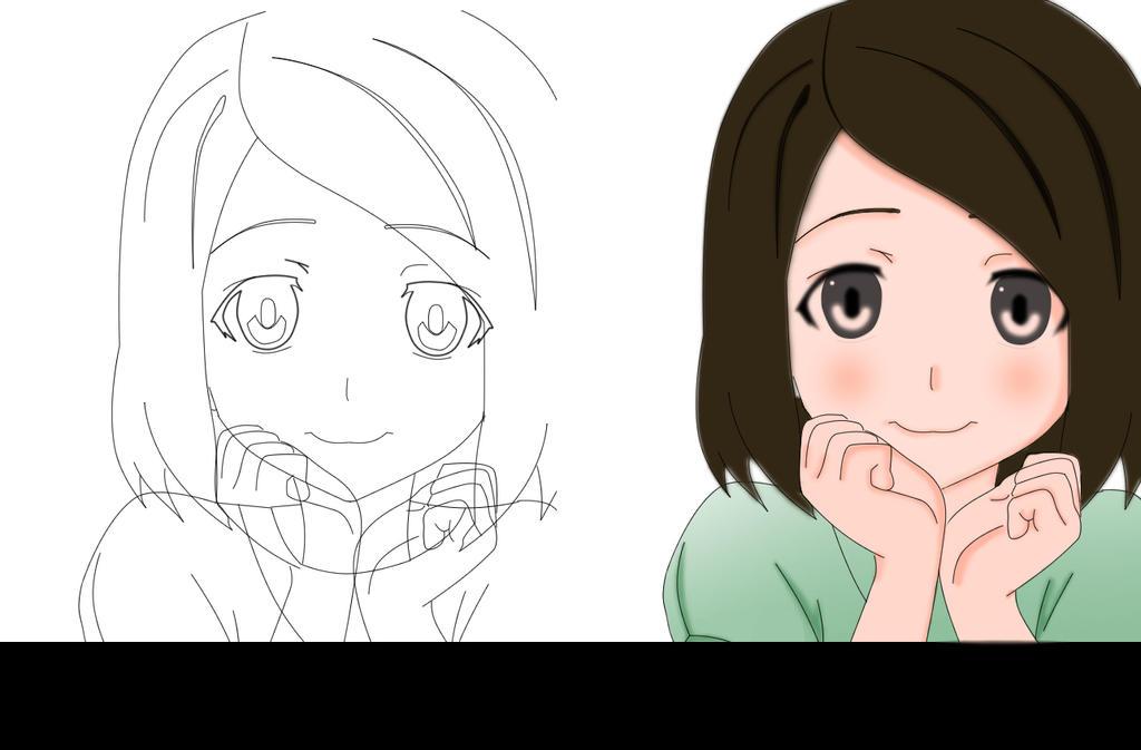 Line Art Anime : Lineart and color anime character by kenlautner on deviantart
