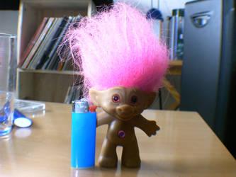 My little friend the troll by atomsize