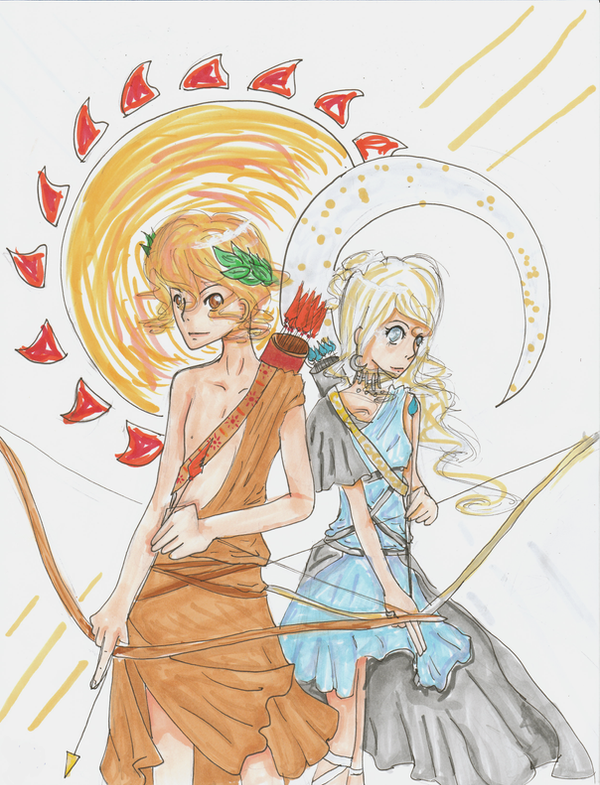 apollo and artemis by anna62a on DeviantArt