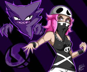 Team Skull: Female Grunt by RahkshiChao