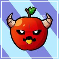 The Grumpy Apple by RahkshiChao