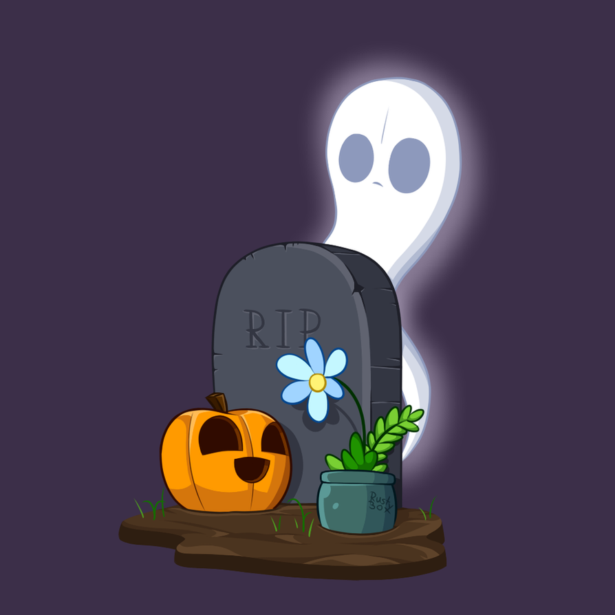 A Ghost and a Pumpkin by RahkshiChao