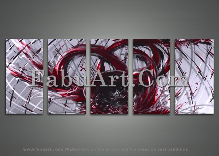 Red Metal Wall Decor: Red And White Abstract Metal Wall Art By Fabuart On DeviantArt