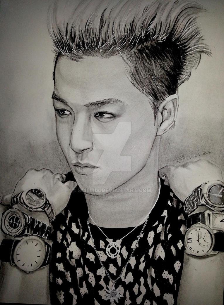 Portrait  kpop Taeyang by Scilliia