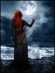 The Gipsy woman and the Moon