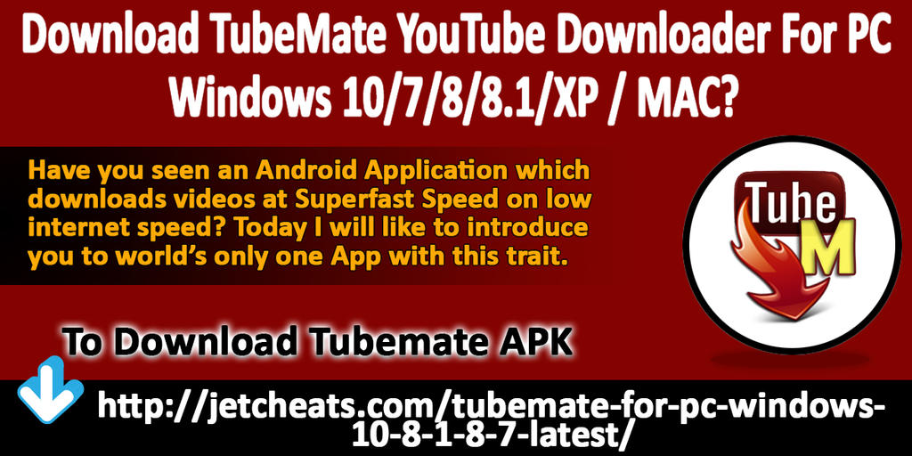 Download TubeMate YouTube Downloader For PC Window by steverherbst