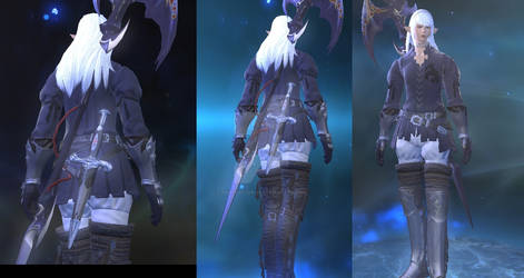 FFXIV Estinien Outfit at the end cutscene 3.3