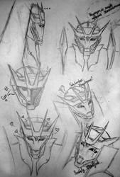 TF Prime: Soundwave doodles 1 by HanamiYumeno