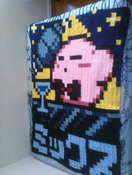 Kirby Blanket WIP